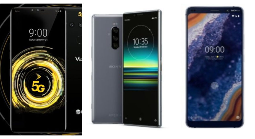 LG V50 ThinQ vs Nokia 9 PureView vs Sony Xperia 1