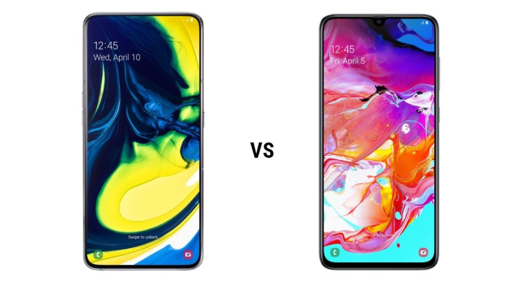 Samsung Galaxy A80 vs Samsung Galaxy A70 (1)