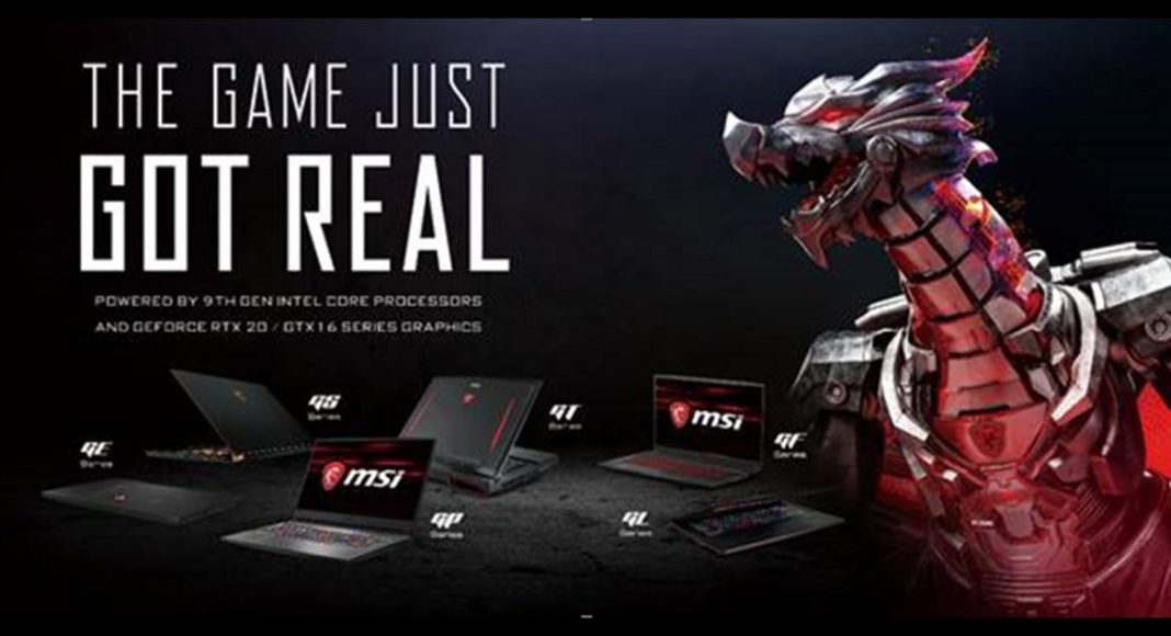 MSI launches world's first gaming laptop with Intel i9 chipset, other laptops launched too