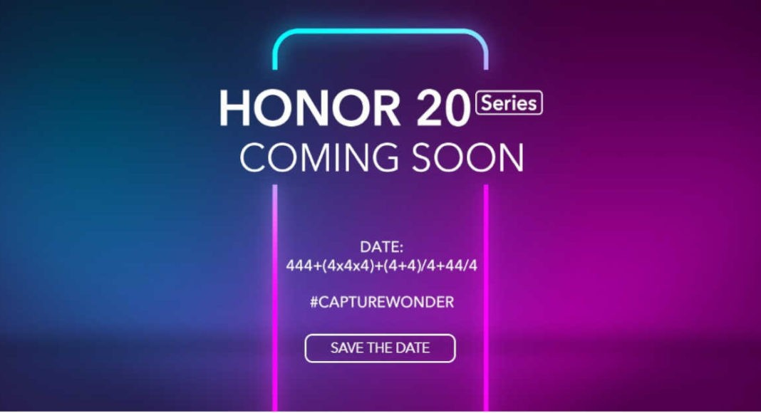 Honor 20 launch live stream