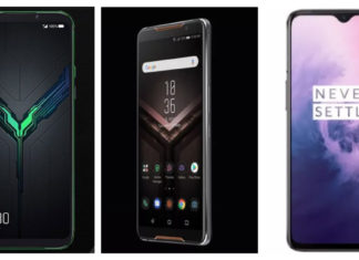 Compare Xiaomi Black Shark and Asus ROG Phone and OnePlus 72