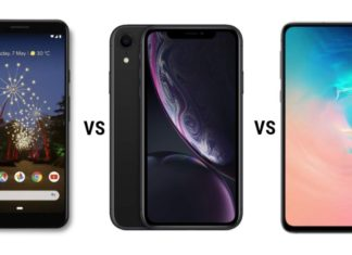 Google Pixel 3a XL vs Apple iPhone XR vs Samsung Galaxy S10e (1)