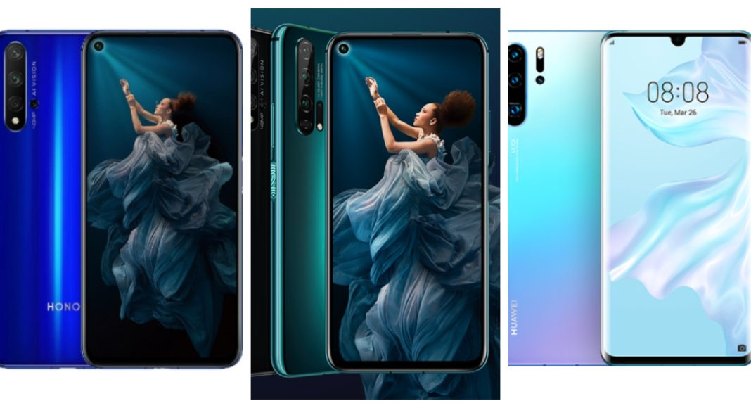 Compare: Honor 20 and Honor 20 Pro and Huawei P30 Pro