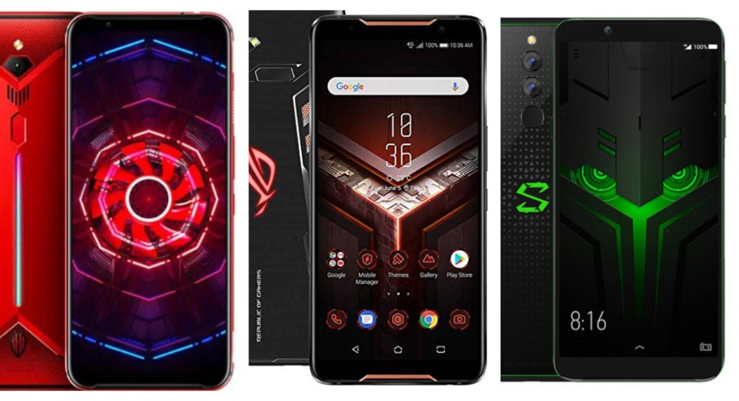 Compare: Nubia Red Magic 3 and Asus ROG Phone and Xiaomi Black Shark 2