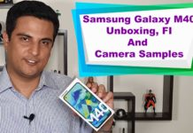 Samsung Galaxy M40 unboxing