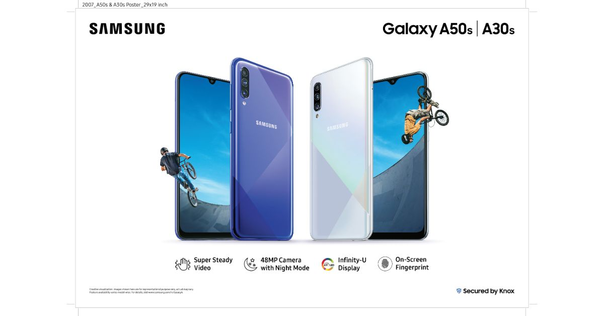 Samsung Galaxy A50s and Galaxy A30s with 4,000mAh battery and triple rear cameras launched in India
