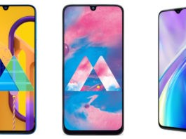 Samsung Galaxy M30s, Galaxy M30 and Realme XT comparison