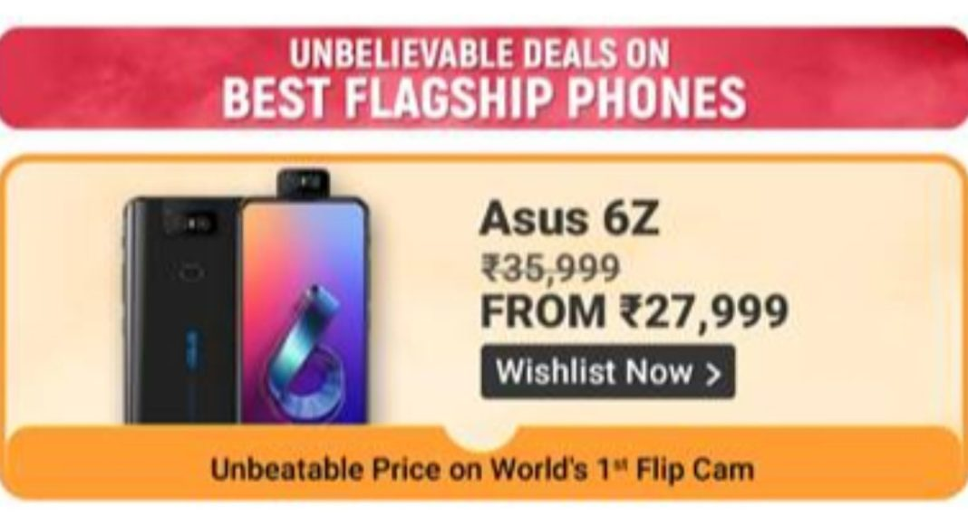 Asus will be offering it latest Asus 6Z, 5Z, Max Pro (M1), Max (M1) and Max (M2) at discounted rates.