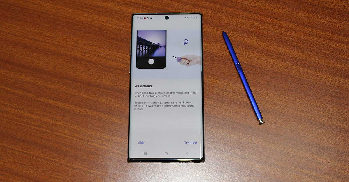 Samsung Note 10 Plus spen 1