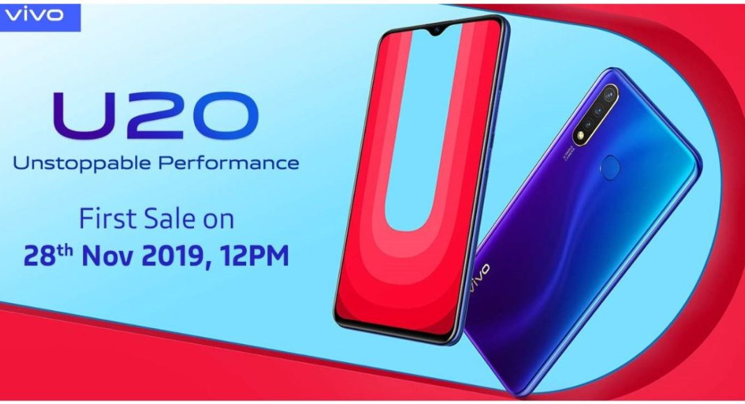 Vivo U20 budget smartphone with triple rear cameras launched in India