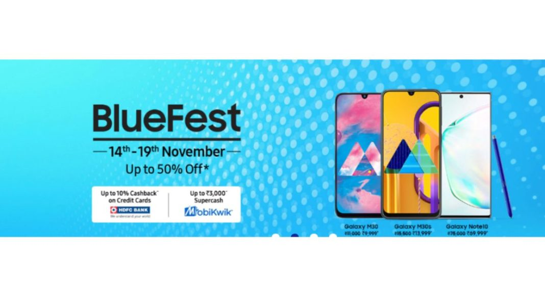 Samsung Blue Fest Sale goes live on Samsung India website: Up to 50 percent discount on Smartphones, Televisions and accessories