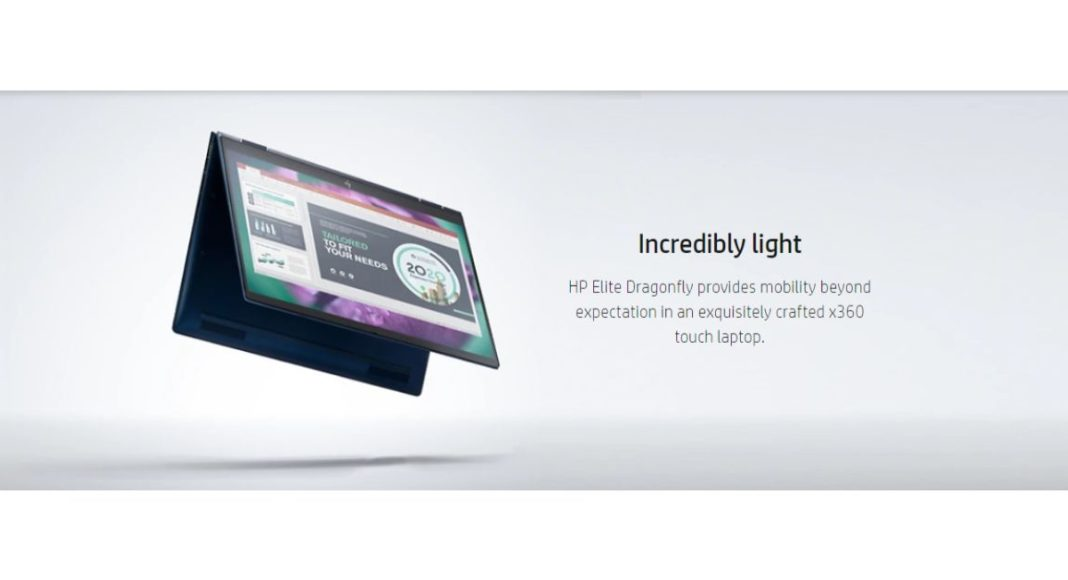 HP launched the Elite Dragonfly convertible laptop that weighs less than a kilogram