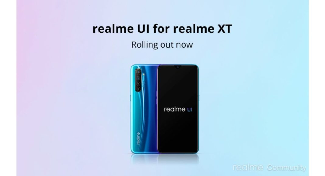Realme XT starts receiving Realme UI based on Android 10