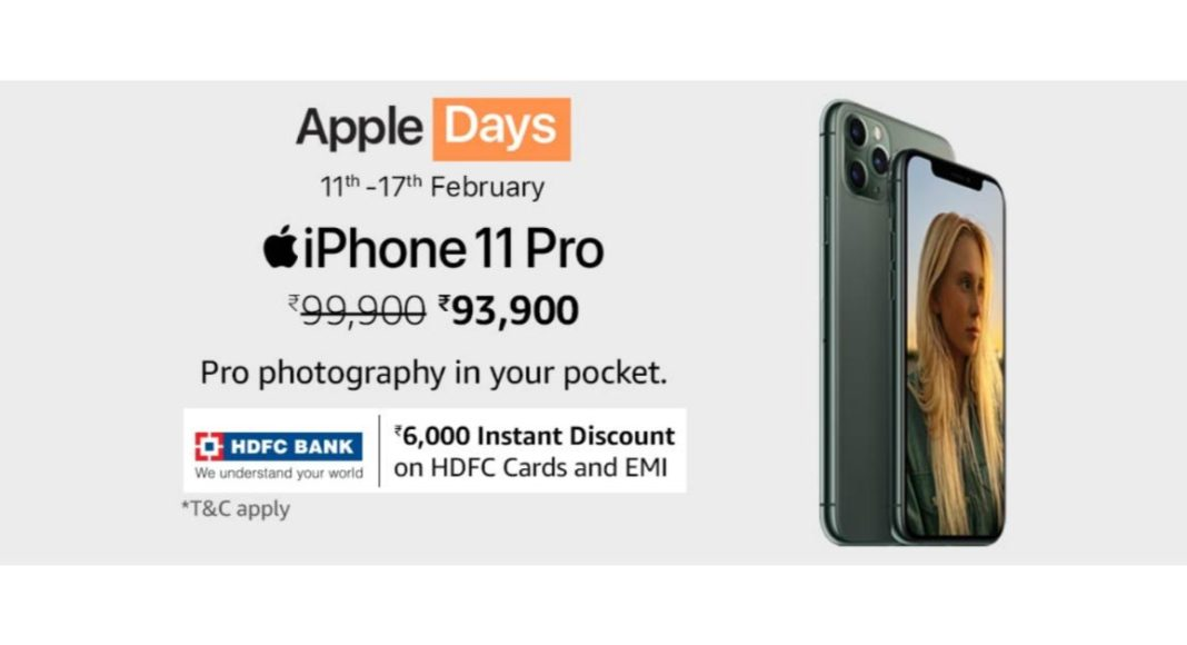 Amazon Apple Days offers iPhone 11, iPhone 11 Pro and iPhone 11 Pro Max with up to Rs 7000 instant discount