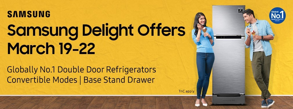 Samsung Delight offers and discounts on Frost Free Refrigerators announced, will be available on Flipkart and Amazon