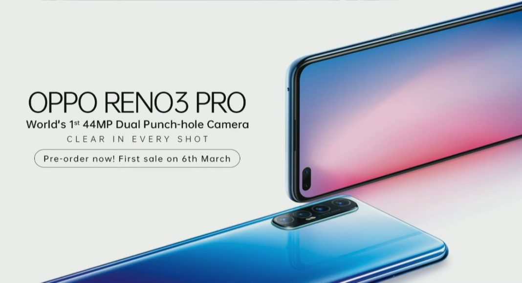 Oppo Reno 3 Pro with a 44-megapixel primary camera launched in India: Pricing and Specifications