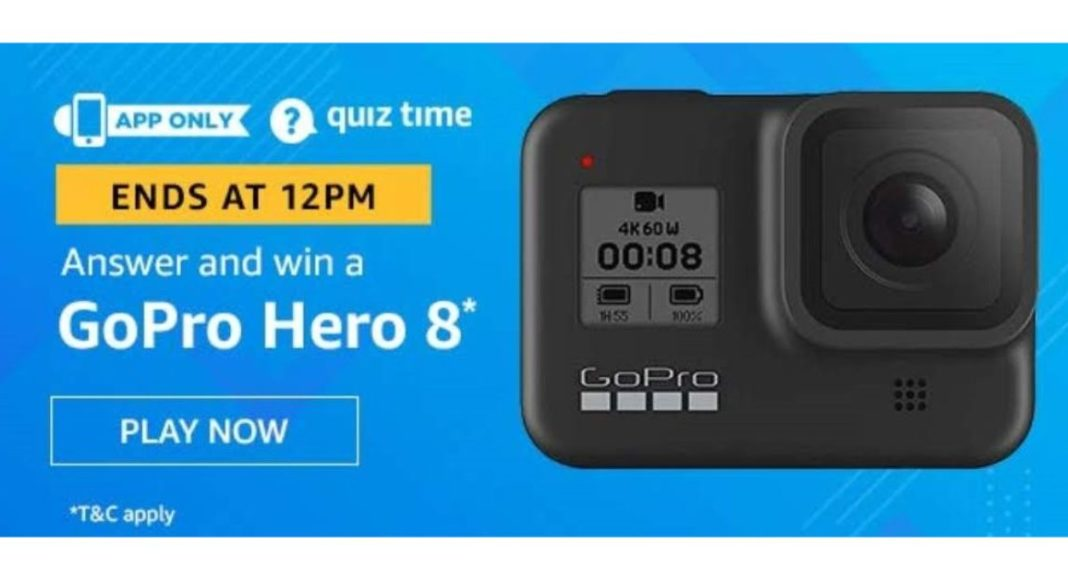 June 26 Amazon Quiz: Participate and win GoPro Hero 8 Action Camera