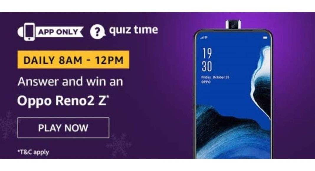 March 18 Amazon Quiz- Answer these five questions and you could win Oppo Reno2 Z