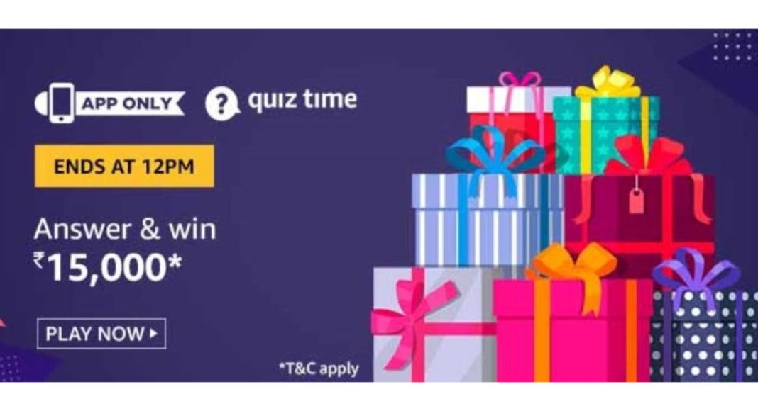 November 4 Amazon Quiz Answers: Today you can win Rs 15,000 Amazon Pay Balance