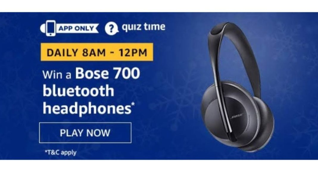 July 17 Amazon Quiz: Answer these five questions and you could win Bose 700 Bluetooth Headphones