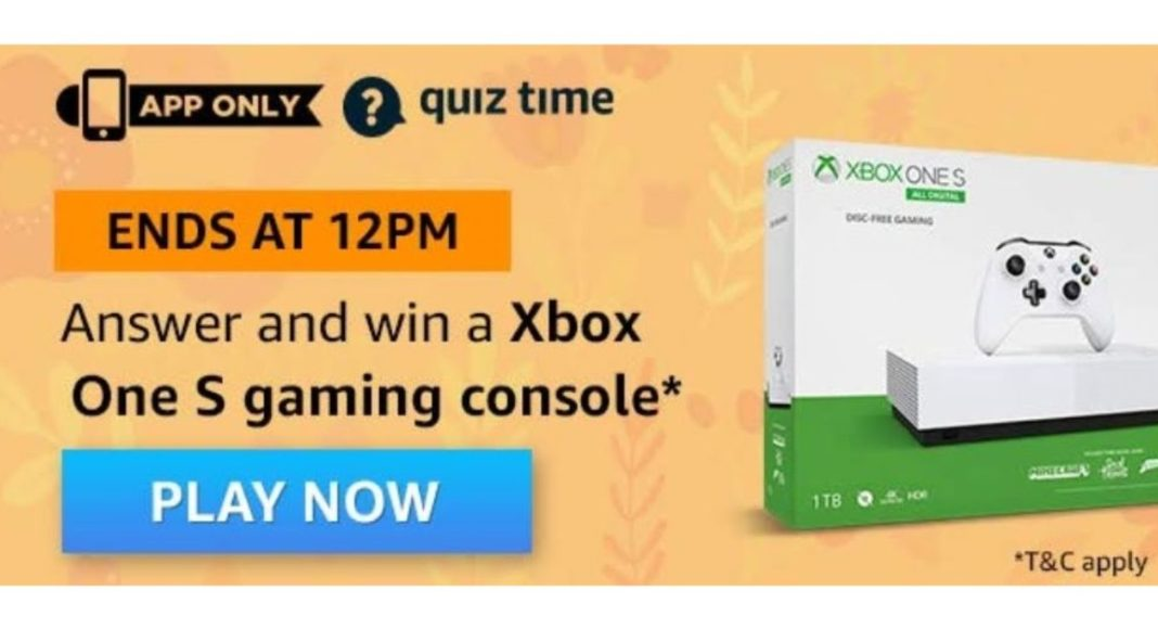 June 20 Amazon Quiz: Answer all the questions to win Xbox One S Gaming Console
