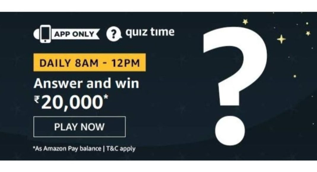 February 22 Amazon Quiz: Answer five easy questions to win 20,000 Amazon Pay Balance