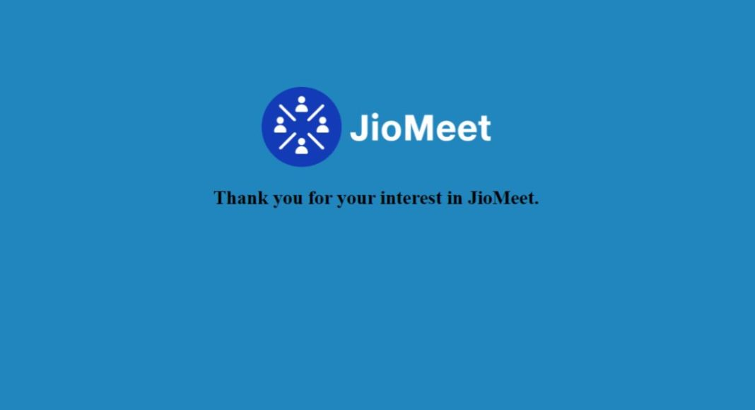 To take on Zoom the Indian telecom company Reliance Jio has introduced its video conferencing app JioMeet