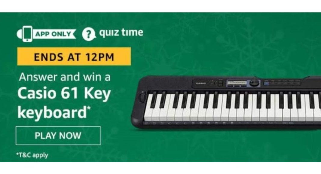 June 12 Amazon Quiz: Participate to win Casio 61 Key Keyboard