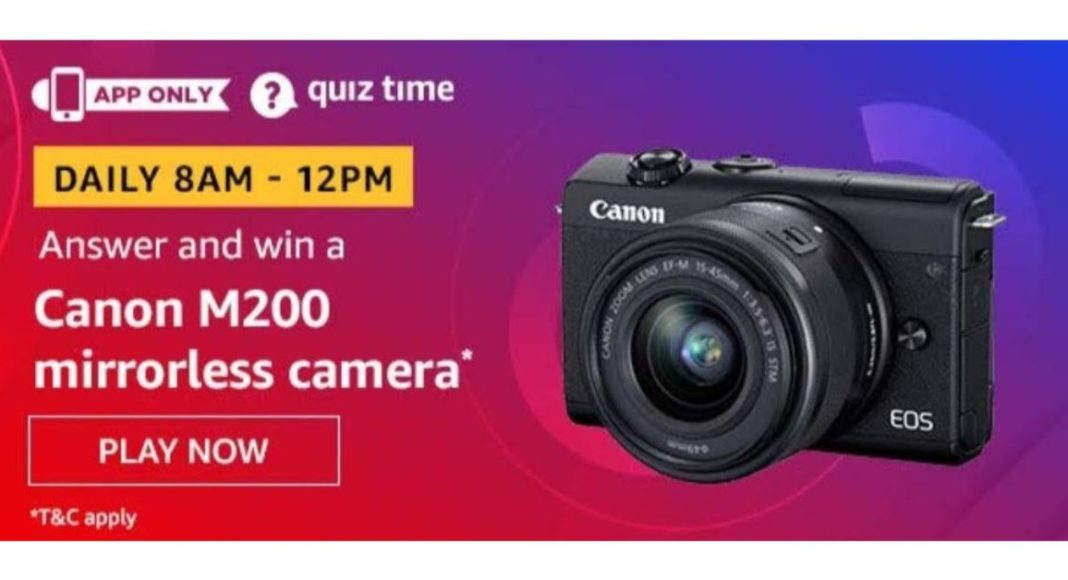 May 26 Amazon Quiz: Answer these five questions and you could win Canon M200 Mirrorless Camera