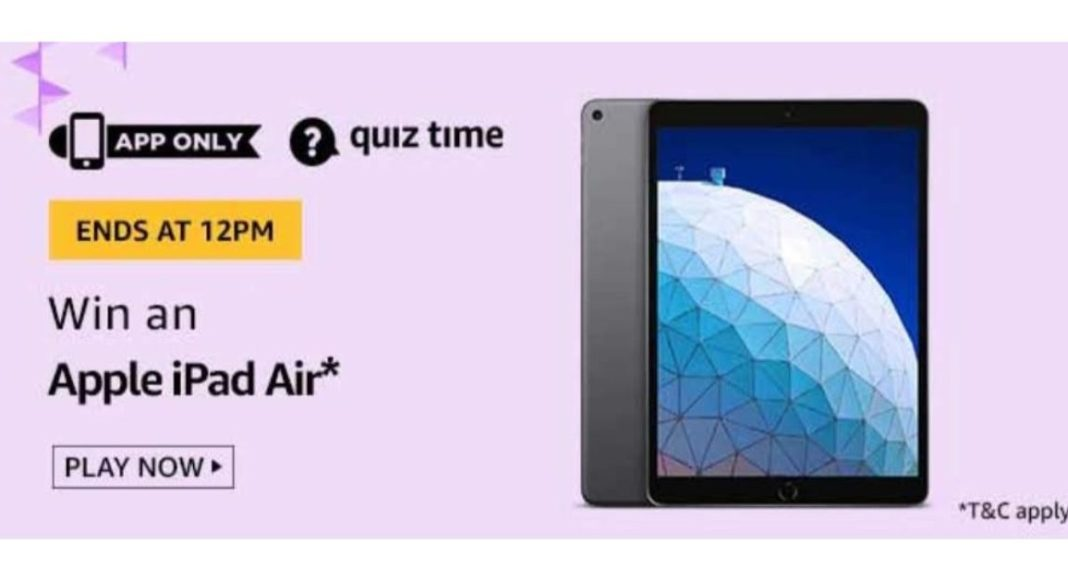 May 22 Amazon Quiz: Participate to win Apple iPad Air