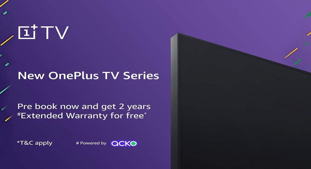 The upcoming 2020 model of OnePlus TV gets listed on Amazon, now available for pre-bookings