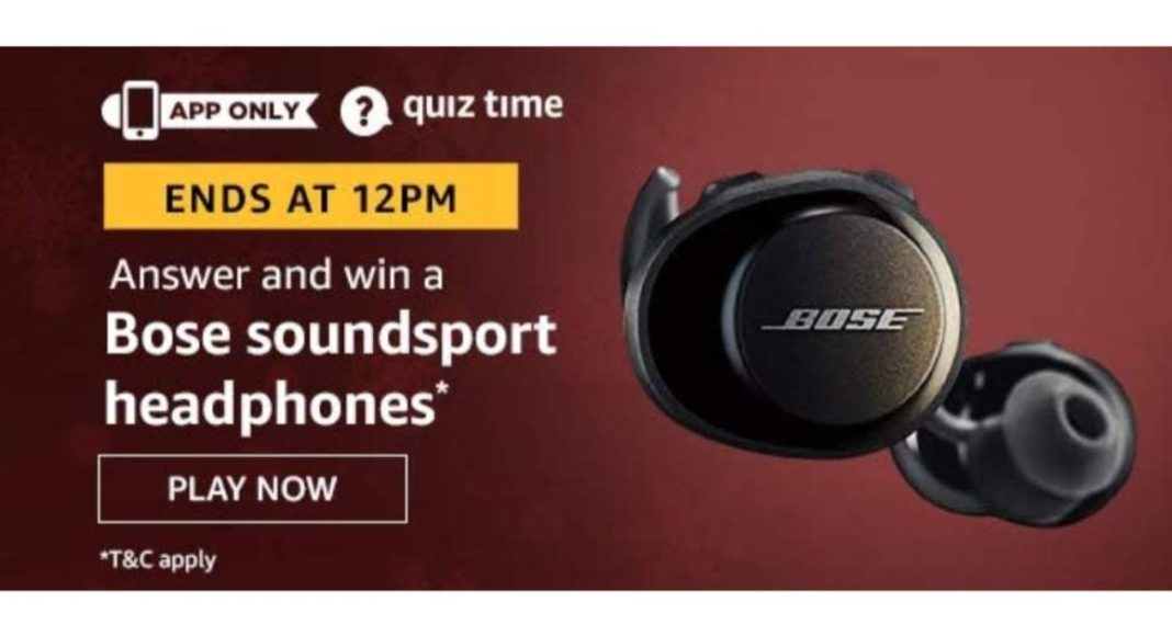 July 14 Amazon Quiz: Participate to win Bose Soundport Headphones