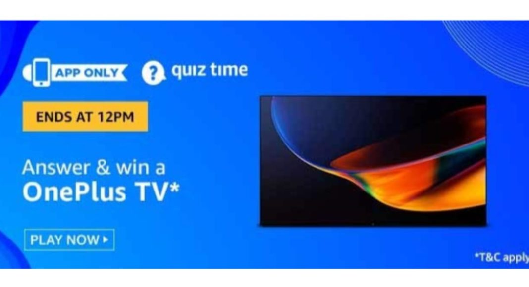 June 27 Amazon Quiz: Participate and win Oneplus TV