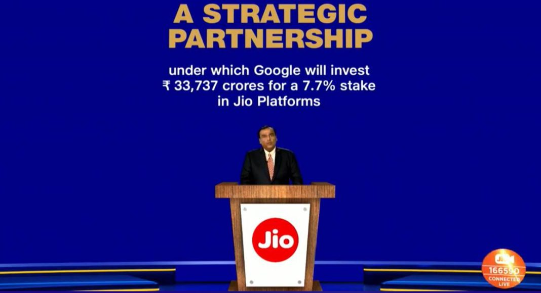 Reliance AGM 2020 Google-reliance-jio-Mukesh-Ambani-RIL-Sundar-Pichai