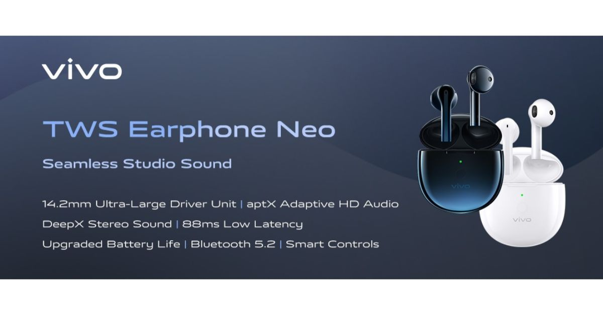 Vivo Tws Neo True Wireless Earphones With Bluetooth 5 2 Launched In India
