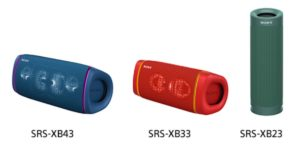 Sony SRS-XB43, SRS-XB33, and SRS-XB23 price