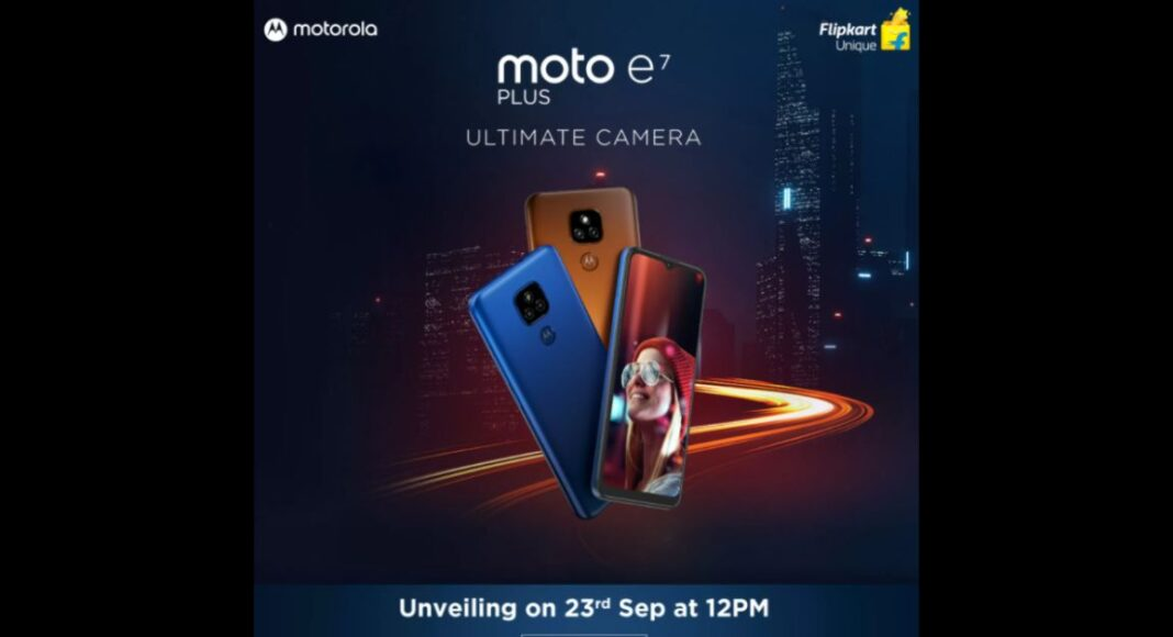 Moto E7 Plus release date set for September 28 in India