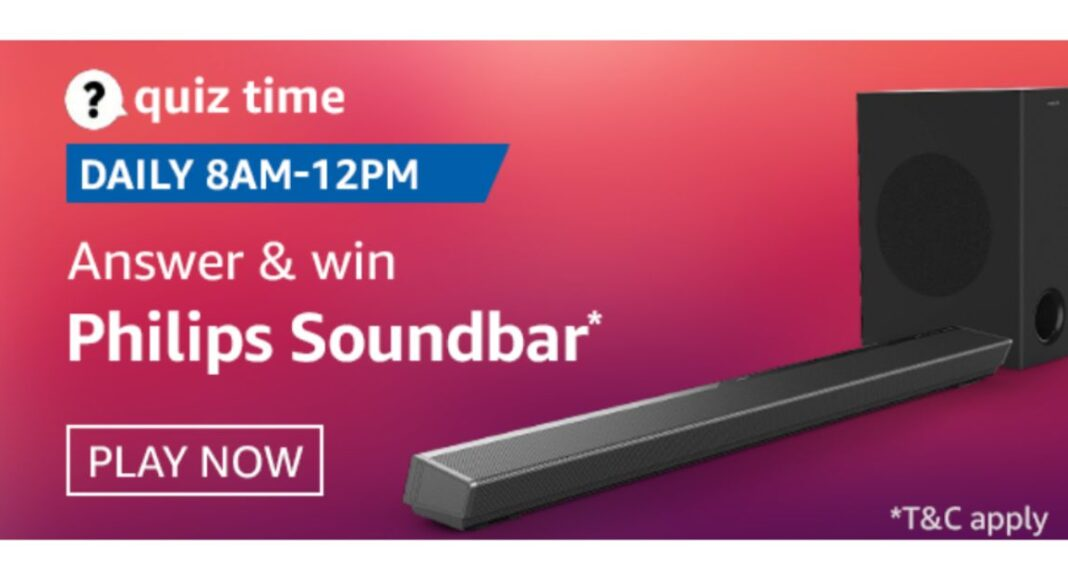 October 11 Amazon Quiz: Answer all the questions to win Philips Soundbar