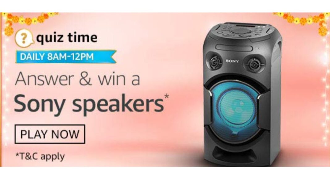 October 3 Amazon Quiz: Participate and win Sony Speakers