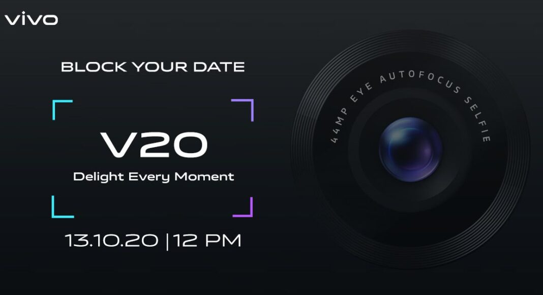 Vivo V20 with 44-megapixel selfie camera confirmed to launch in India on October 13