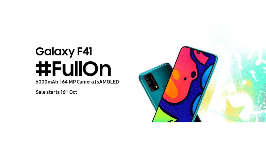 Samsung Galaxy F41 with 6,000mAh battery and a triple rear camera set up launched in India
