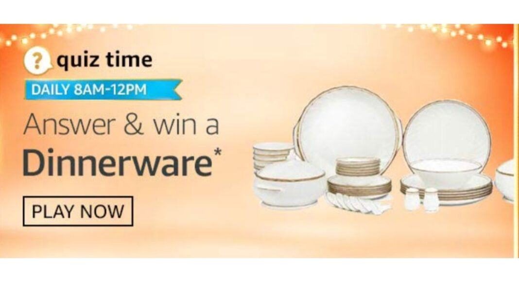 November 7 Amazon Quiz: Answer all the questions to win a Dinnerware
