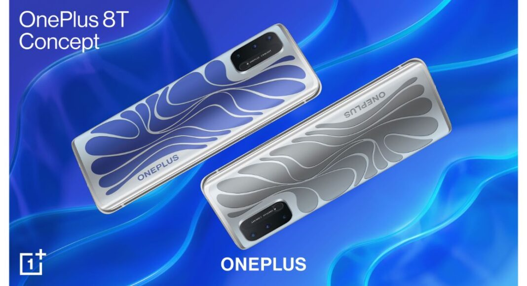 OnePlus 8T Concept Smartphone with color-shifting ECMF design and mmWave tech launched