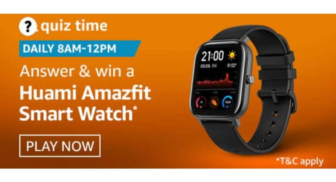 December 19 Amazon Quiz: Participate and win Huami Amazfit Smartwatch