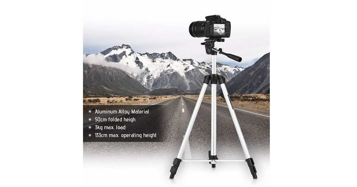 Mabron Heavy Quality Tripod 330A Smart Aluminium Adjustable Portable and Foldable Tripod